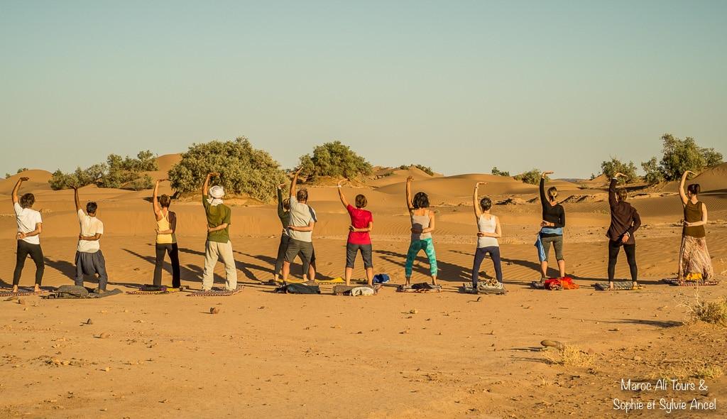 Yoga avec les dromadaires